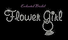 Flower Girl With Dangling Ring Rhinestone by EnchantedBridal