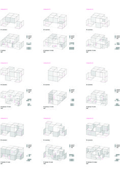 Revolutionary House. 2013 Private Client - inaquicarnicero.com Typology Architecture, Cubic Architecture, Architecture Concept Diagram, Architecture Panel, Concept Architecture, Architecture Program, Modular Housing, Social Housing, Co Working