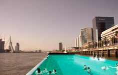 Swimming in the river Maas, Urban Hotspring, Rotterdam, The Netherlands