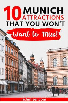 10 Munich Attractions That You Won't Want to Miss! Things to do in Munich Germany, Travel . - - My MartoKizza Visit Germany, Munich Germany, Germany Travel, Bavaria Germany, France Travel, Italy Travel, Munich Attractions, Oktoberfest Hairstyle, Europe Travel Guide