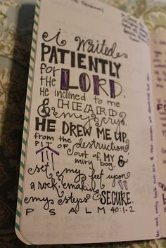 Psalm 40:1-2 why can't my journal be this cute