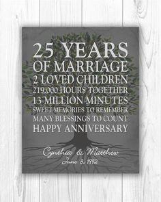 25th Wedding Anniversary Quotes, 25 Year Anniversary Gift, Silver Anniversary Gifts, Anniversary Gifts For Parents, Personalized Anniversary Gifts, Anniversary Ideas, Anniversary Scrapbook, 10 Years, Nice Memories