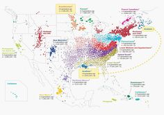 Ancestry scientists used data from 770,000 tubes of spit submitted by customers to map out generations of American migrations across the country to reveal
