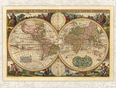 Digital Antique Map  Printable  INSTANT DOWNLOAD by DIYVintageArt, $1.20