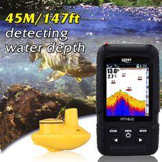 Lucky Rechargeable Fish Finder Colored LCD Wireless Sonar Sensor FF-718LiC-W   eBay 1900kč