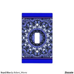 Royal Blue Light Switch Cover