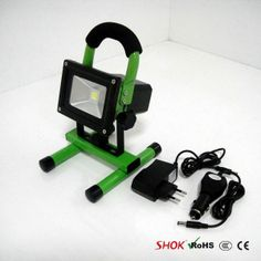 portable led flood light with battery