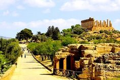 Hill of Greek Temple - Agrigento, Sicily