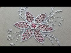 Hand embroidery of a flower pattern with net stitch – hand embroidery Brazilian Embroidery Stitches, Basic Embroidery Stitches, Floral Embroidery Patterns, Hand Embroidery Videos, Hand Embroidery Flowers, Creative Embroidery, Hand Embroidery Designs, Beaded Embroidery, Flower Patterns