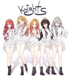 Knights (genderbend) image by kanata. Find more awesome ensemble_stars images on PicsArt. Moe Anime, Kawaii Anime, Character Inspiration, Character Design, Anime Friendship, Cute Anime Coupes, Star Images, Anime Hair, Star Girl
