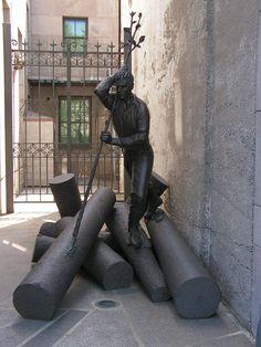 L'homme Rivière. Fonderie de bronze Atelier Du Bronze Inverness sculpture fonderie d'art Monument aux Québec Canada