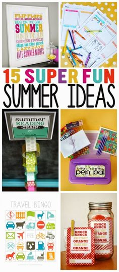 Less than 2 weeks of school left for us until we are enjoying the lazy days of summer. I'm looking forward to the days with no schedules… no homework… and less sportspractices and gamesto cart everyone around to. Today we are sharing some fun summer ideas you may want to try with your families. Hope …