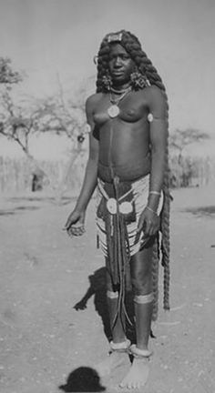 South West Africa (Namibia / Southern Angola) | Ovambo girl. Vintage photographic print // PP0075792