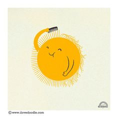 "Sun. ""Bad Hair Day"" by Heng Swee Lim from http://ilovedoodle.com/wp/"
