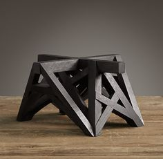 """Wood Table Maquette Black 11 3/4 x 6 1/2"""" Replicas of Belgian architects models"""