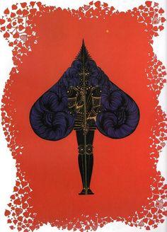 Special Set Erte Art Deco Prints x 4 The Aces Heart Diamond Club Spades | eBay