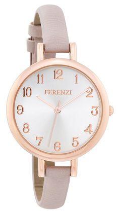 3cc413b630b FERENZI Women s FZ15501 Analog Quartz Grey Watch Wristwatches Watches Parts