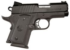 "Warthog: It is a stunningly effective handgun. This is the original super-compact .45 pistol with truly awesome firepower. There is no smaller, more powerful 1911-style, 10+1 semi-auto .45 ACP in the world. Its three-dot fixed sight system has been upgraded with a fi ber optic front sight speeding the acquisition of your sight picture. In 2011, the Warthog has a non-reflective all black finish.  Caliber: .45 ACP  Rounds: 10+1  Barrel: 3""  Weight: 24 oz.  Length: 6.5""  Height: 4.5""  MSRP: $97..."