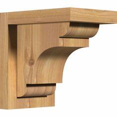 5 1/2-Inch W x 8-Inch D x 8-Inch H New Brighton Smooth Corbel w/Backplate, Western Red Cedar - 24.94