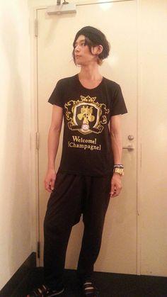 [Champagne]川上洋平2013/8/23【番組Tシャツ完成!】Welcome![Champagne]Tシャツ8/30山中湖から販売開始!モデルは洋平君!似合う!さすが!
