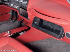 1963 Chevy Impala ss #BecauseSS - Corpala. red black silver grey custom interior dash