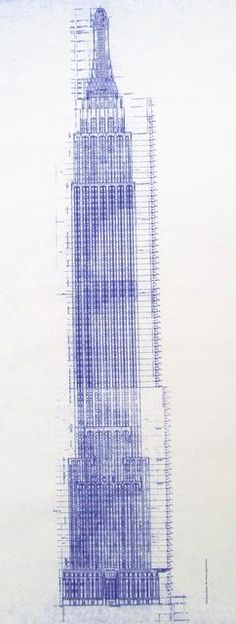 Chrysler Building Blueprint #technical #drawing Design - new blueprint program online