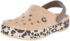 792662e64362 crocs Unisex Crocband Leopard Clog Mule