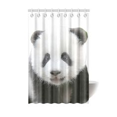 "Panda Bear Shower Curtain 48""x 72"". Machine/hand washable. FREE Shipping. FREE Returns. #showercurtains #panda"