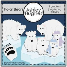 $ Polar Bears: Graphics/Clipart for Commercial Use