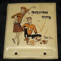 Vintage Dateline Rhythm Tote 45 Vinyl Record Holder Case
