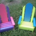 Ana White | Build a Child Sized Surf Board Adirondack Chair | Free and Easy DIY Project and Furniture Plans