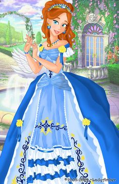 """Giselle deluxe gown by LadyAmber.deviantart.com on @deviantART - Eighth in a series of redesigned dresses for Disney girls: Giselle from """"Enchanted""""."""