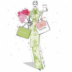Megan Hess Illustration, Illustration Art, Cool Wallpaper, Iphone Wallpaper, Kerrie Hess, Valentino, Fashion Design Drawings, Fashion Sketches, Blossom Trees