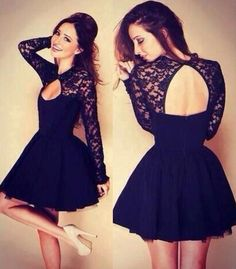 long sleeves homecoming dresses, lace homecoming dresses, short homecoming dresses, homecoming dresses under 100, open back homecoming dresses @veenrol
