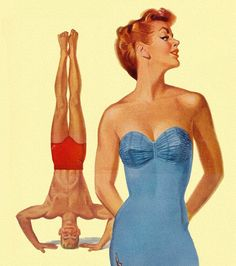 Seeking Attention - Jantzen Swimsuits 1950 - art by Pete Hawley #vintage #poster