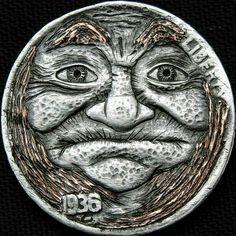 Hobo Nickel 1936 Buffalo Nickel. Hobo Nickel Coins for sale Old Coins For Sale, Amish Men, Indian Skull, Hobo Nickel, Coin Art, Commemorative Coins, Dollar Coin, Morgan Silver Dollar, Half Dollar