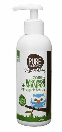 Pure Beginnings Baby wash & shampoo with organic baobab