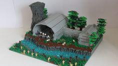 Lego Star Wars Moc on Alderaan Lego Ww2, Lego Army, Lego Military, Lego Star Wars, Star Wars Clone Wars, Lego Mountain, Lego Clones, Star Wars Models, Lego Construction