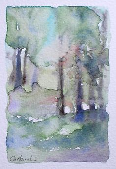 NEW FOREST An Original Watercolour Small Painting - ideal if space is limited! by Amanda Hawkins  Size: 9 x 14cm approx Not framed or mounted