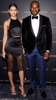 Former flames: Shanina dated Tyson Beckford from 2008 but split from the fellow model earl...