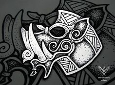 #drawing #illustration #engraving #linework #dotwork #black #ink #pen #pencil #pseudo #viking #celtic #style #wildpig #boar #pig #gullinbursti #god #norse #mythology #tattoo #tattoodesign #norsetattoo #czech #thedotworkers #iblackwork #onlyblackart...