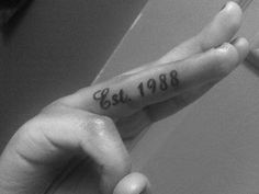 I think it would be cool to get the date that you get married tattooed on the inside of your ring finger