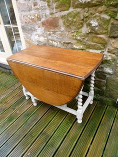 Drop Leaf Table, paint bottom  leave top natural.