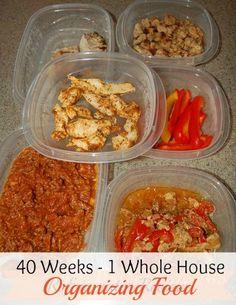 40 Weeks 1 Whole House Week 11 Organizing Food