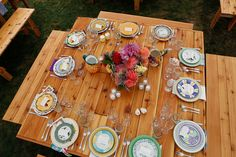 Mismatched farmhouse plates... Save money by mixing our families fun dishes?