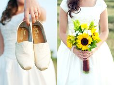 Bridal bouquet and wedding shoes!