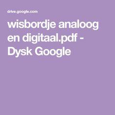 wisbordje analoog en digitaal.pdf - Dysk Google Google