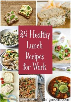 25 Healthy Lunch Recipes for Work - Refuel for the rest of your day with one of these delicious and healthy lunch recipes for work.