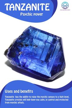 crystal meanings Tanzanite Meaning Tanzanite healing crystals benefits, Tanzanite crystals meanings, how to use Tanzanite crystals. Tanzanite stones for beginners, h