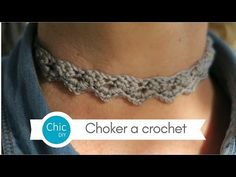 CHOKER A CROCHET | PUNTO RAMITO | CHIC DIY - YouTube
